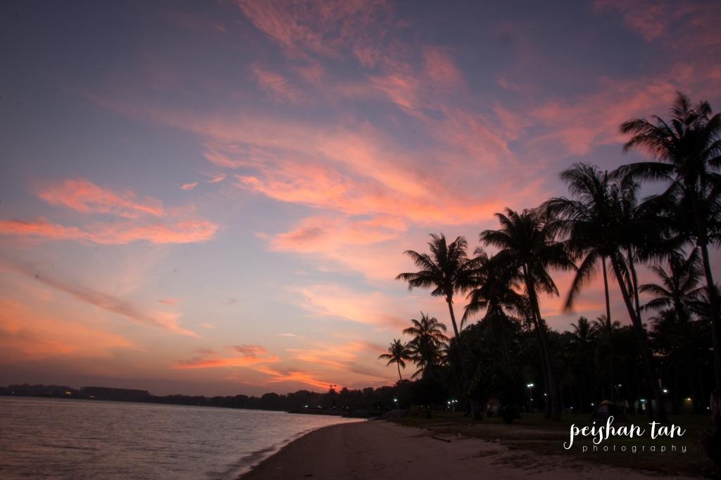 Sunrise over Pasir Ris Park