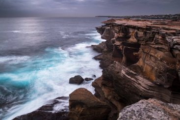 Mar 2015 Coogee Sunrise without Sun-10