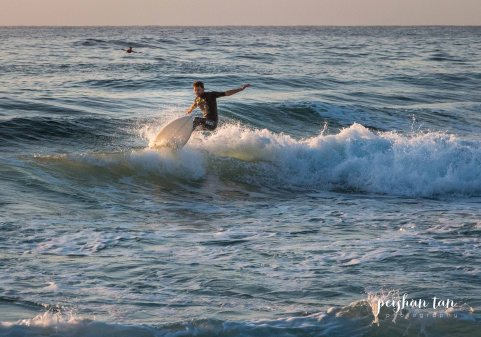 Surfing at Curl Curl at Sunrise-1