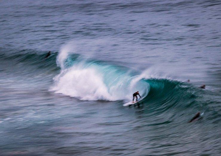 Surfing at Avalon