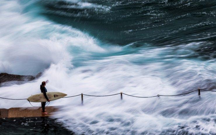 Surfer at Avalon