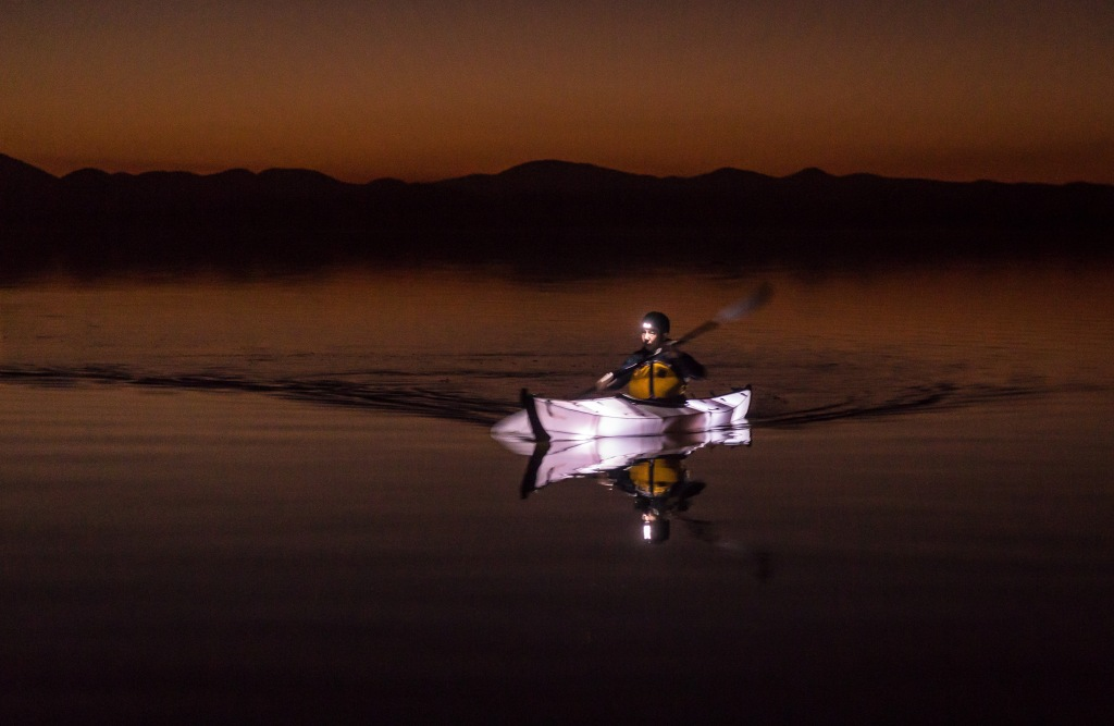 Twilight paddle