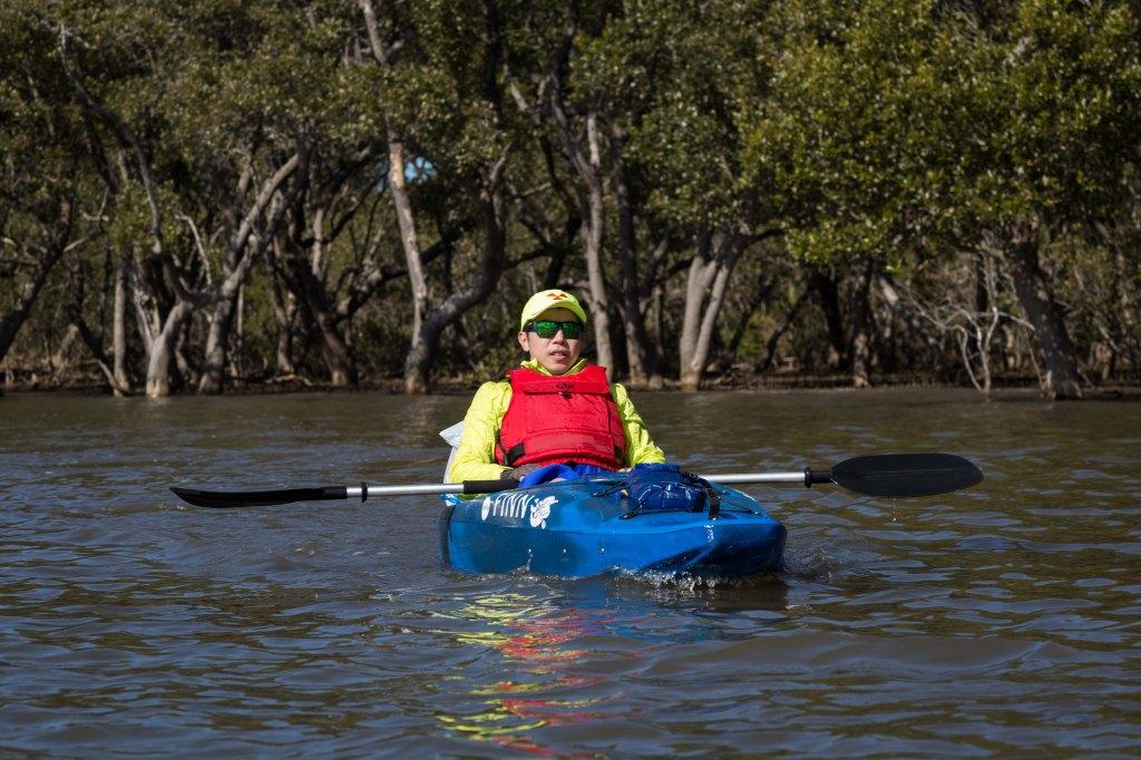 Kayaking along the Hawkesbury River
