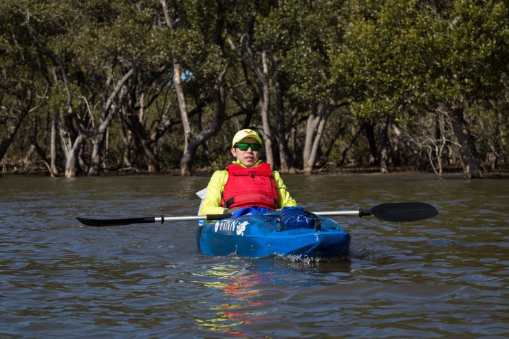 Kayaking along the Hawkesbury River
