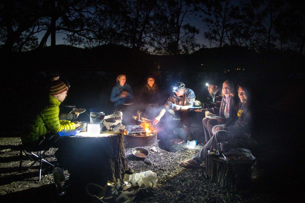 Camping at Gentleman's Halt along the Hawkesbury River
