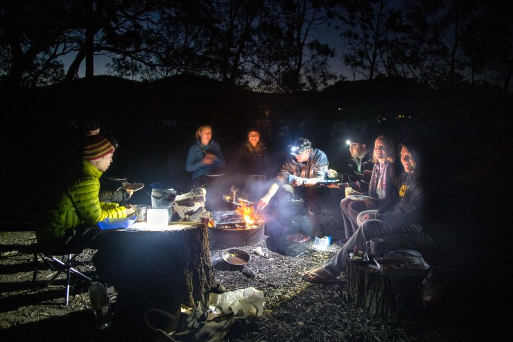 Camping at Gentleman's Halt along the Hawkesbury River