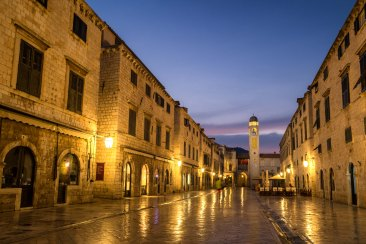 Wandering the streets of old town Dubrovnik at dawn