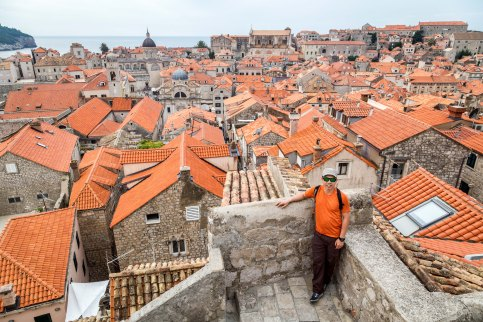 Atop the Dubrovnik city walls