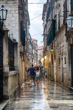 Raining in Dubrovnik