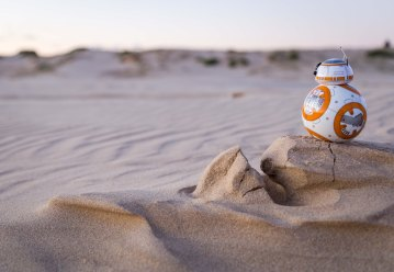 We brought BB8 out to explore Birubi Beach
