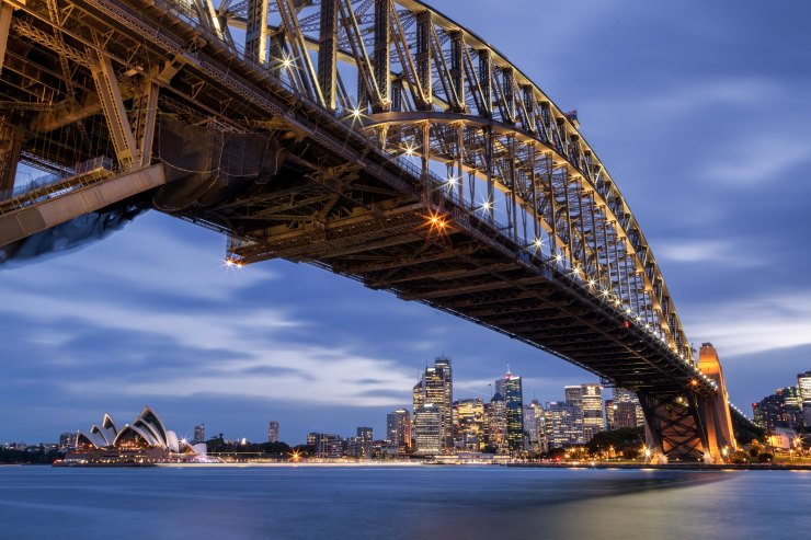 Sydney Harbor Bridge at Dusk