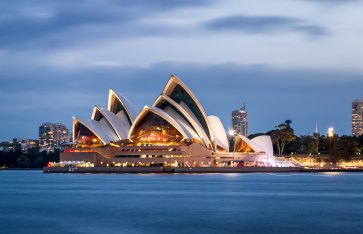 Sydney Opera House at twilight