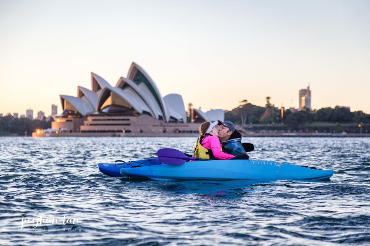 Sunrise paddle with Sydney by Kayak
