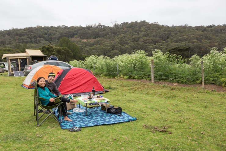 Camping in Bendeela Recreational Area