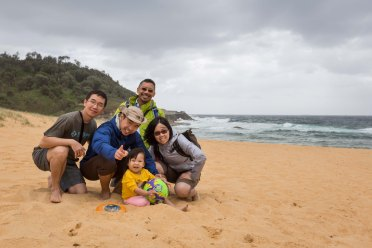 The family at Wamberal Beach