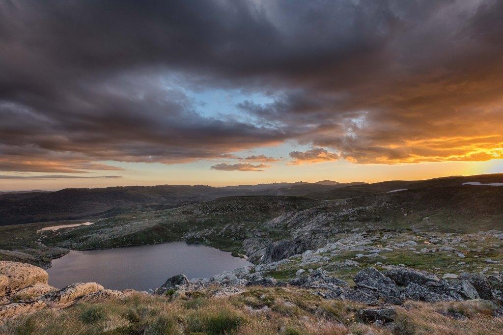 Sunset above Blue Lake