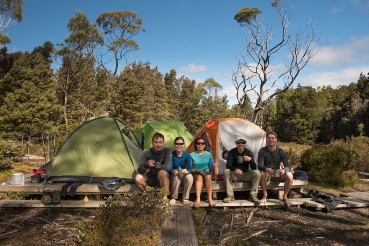 Overland Track - Lake Windemere Campsite (photo by Jingyi Tan)