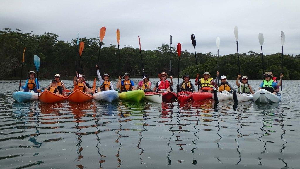 Our kayaking meetup group (photo credit: Paul Barnes)
