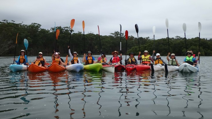 Our kayaking meetup group (photo credit: Paul Barnes)
