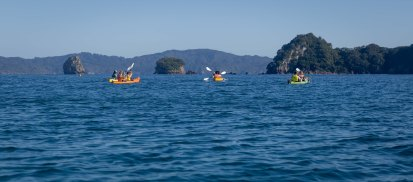 Kayaking Cathedral Cove Coromandel New Zealand