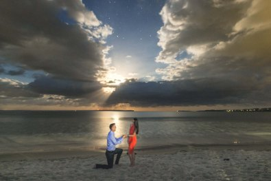 Jervis Bay Moonlight Engagement