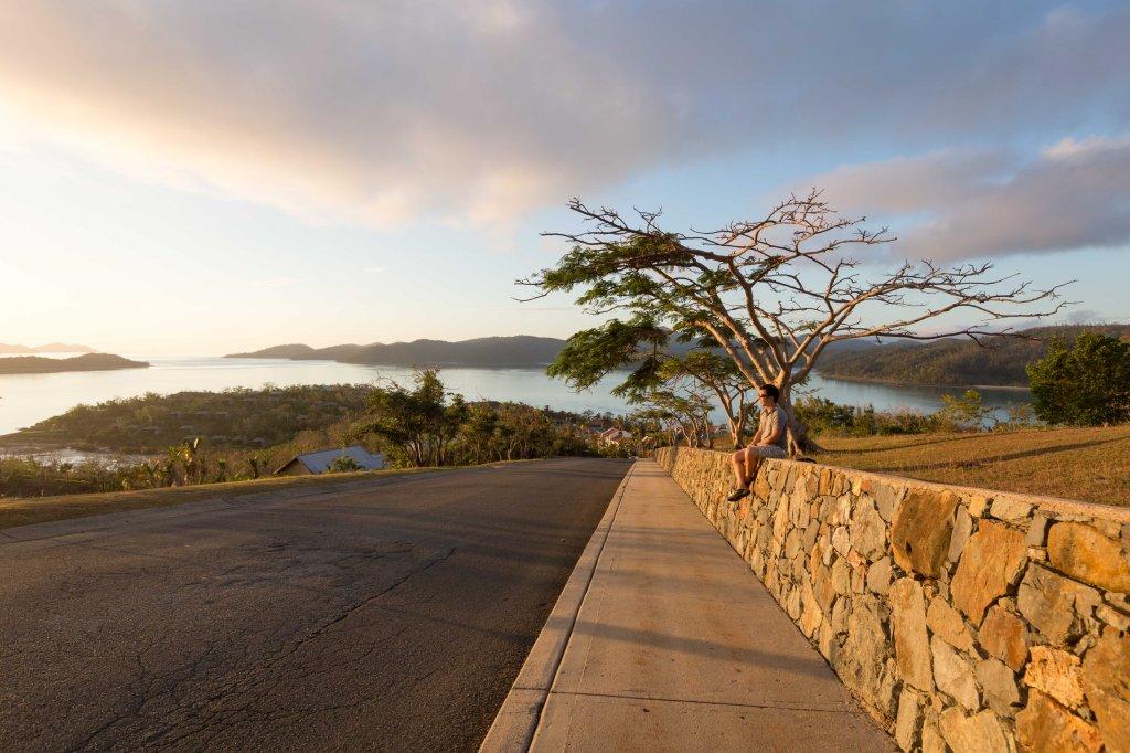 Enjoying a stunning sunset atop One Tree Hill - Hamilton Island
