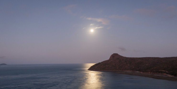 Moonlight over Passage Peak - Hamilton Island