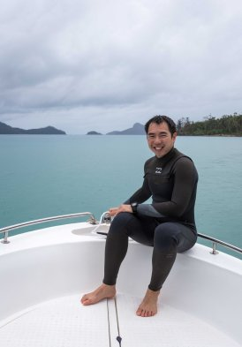 Snorkeling off our rental dinghy - Hamilton Island