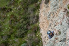 Jeff on Pitch One of Kaiser - Arapiles