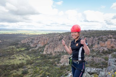 Check out the highline - Arapiles