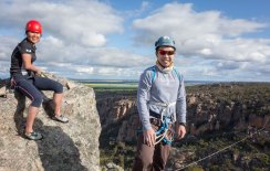 Rose and Jeff enjoying the view after our 6 pitches - Arapiles