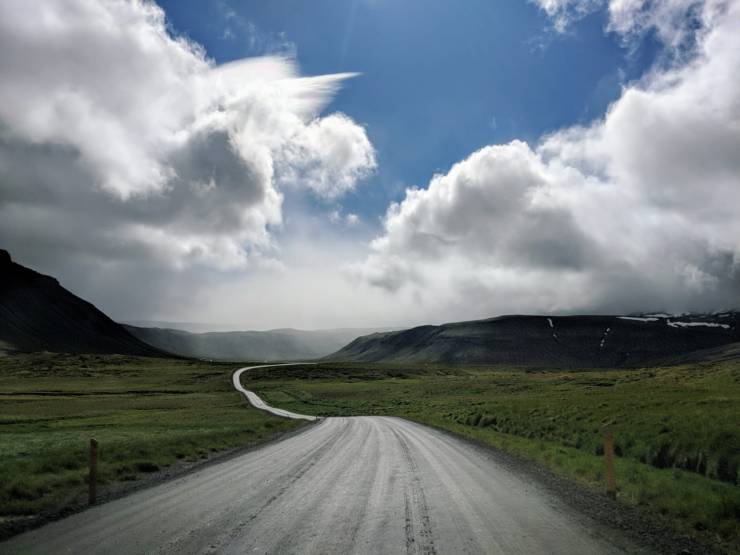 Driving to westfjords Iceland