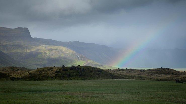 Hellar rainbow Iceland