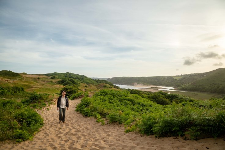 Hiking Three Cliffs, Gower Peninsula